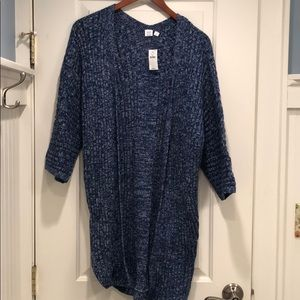 Gap long cardigan with cropped sleeves NWT
